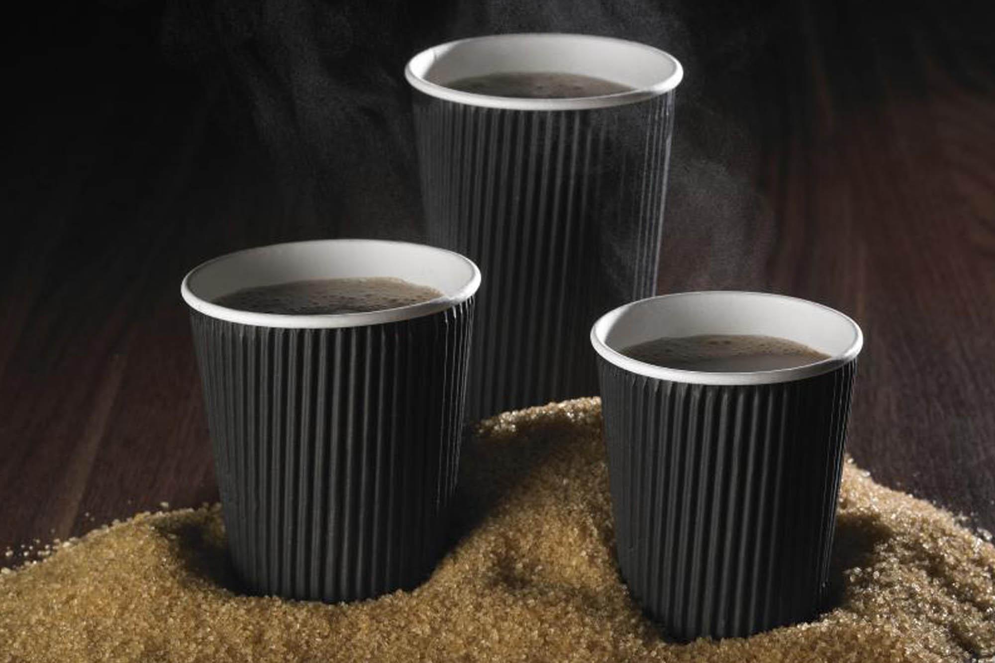 Black ripple cups